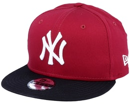 Kids New York Yankees Colour Block 9Fifty Maroon/Black Snapback - New Era