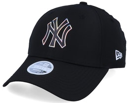 New York Yankees Women MLB Nylon 9Forty Black Adjustable - New Era