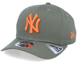 New York Yankees Tonal Stretch 9Fifty Olive/Orange Adjustable - New Era