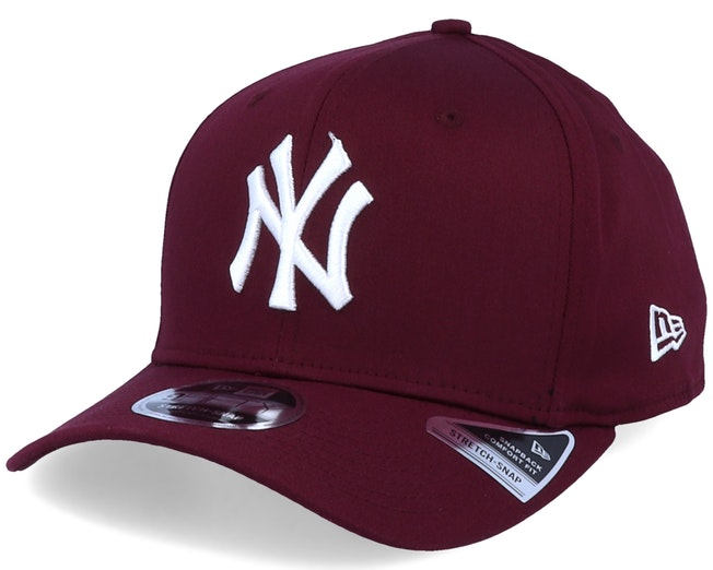 New York Yankees Tonal Stretch 9Fifty Maroon/White Adjustable - New Era