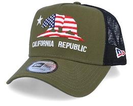 Canvas California November Green/Black Trucker - New Era