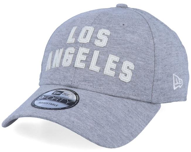 LA Lakers NBA Felt Script 9Forty Heather Grey/White Adjustable - New Era