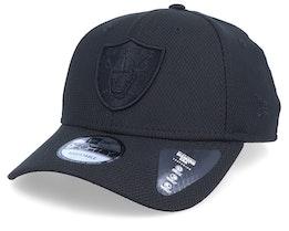 Oakland Raiders Mono Team Colour 9Fifty Black/Black Adjustable - New Era