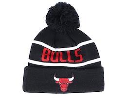 Chicago Bulls Bobble Knit Black/White/Red Pom - New Era