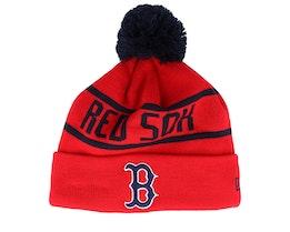 Boston Red Sox Bobble Knit Red/Navy Pom - New Era