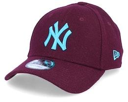 New York Yankees Melton 9Forty Maroon/Blue Adjustable - New Era