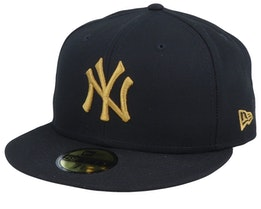 New York Yankees League Essential 9Fifty Black/Gold Fitted - New Era