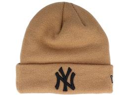 New York Yankees League Essential Knit Brown/Black Cuff - New Era