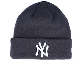 New York Yankees League Essential Knit Dark Grey/White Cuff - New Era