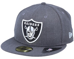 Oakland Raiders 59Fifty Heather Essential Grey Fitted - New Era
