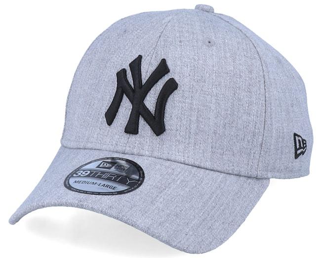 New York Yankees 39Thirty Heather Essential Grey/Black Flexfit - New Era