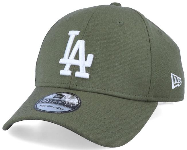 Los Angeles Dodgers 39Thirty Heather Essential Olive Green/Black Flexfit - New Era