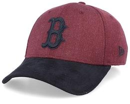 Boston Red Sox 39Thirty Heather Maroon/Black Flexfit - New Era