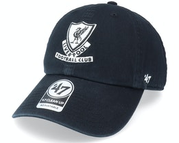Liverpool FC Arched Clean Up Black Dad Cap - 47 Brand