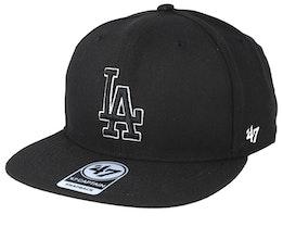 Los Angeles Dodgers No Shot 47 Captain Black Snapback - 47 Brand
