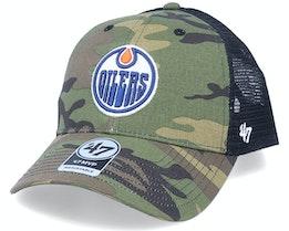 Edmonton Oilers Branson Mvp Camo/Black Trucker - 47 Brand