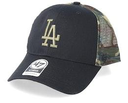 Los Angeles Dodgers Back Switch 47 Mvp Black/Camo Trucker - 47 Brand