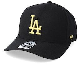 Los Angeles Dodgers Cold Zone Metallic 47 Mvp DP Black/Gold Adjustable - 47 Brand