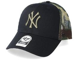 New York Yankees Back Switch 47 Mvp Black/Camo Trucker - 47 Brand