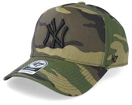 New York Yankees Grove 47 Mvp Camo Adjustable - 47 Brand
