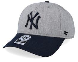 New York Yankees Palomino Two Tone 47 Mvp Heather/Navy Adjustable - 47 Brand