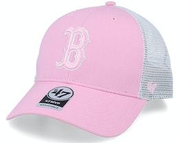 Boston Red Sox Flagship Mvp Petal Pink/White Trucker - 47 Brand