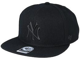 New York Yankees 47 Captain Wool Black/Matte Black Snapback - 47 Brand