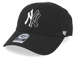 New York Yankees Split Logo 47 Mvp Wool Black Adjustable - 47 Brand