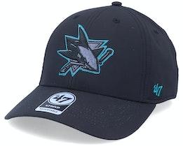 San Jose Sharks Mvp Momentum Black/Blue Adjustable - 47 Brand