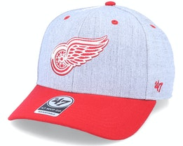 Detroit Red Wings Storm Cloud Mvp DP Charcoal/RedAdjustable - 47 Brand