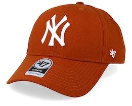 New York Yankees 47 Mvp Wool Burnt Orange/White Adjustable - 47 Brand