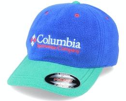 ™ Fleece Cap Lapis Blue/Emerald Green Flexfit - Columbia