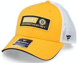 Boston Bruins Iconic Defender Yellow Gold/White Trucker - Fanatics