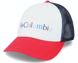 Womens Mesh™ Hat Ii Nocturnal White/Red/Black Trucker - Columbia