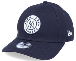 Kids New York Yankees Circle Patch 9Forty Navy/White Adjustable - New Era