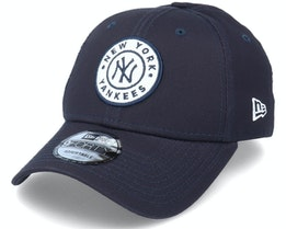 New York Yankees Circle Patch 9Forty Navy/White Adjustable - New Era