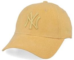 New York Yankees Women 9Forty Corduroy Pastel Yellow Adjustable - New Era