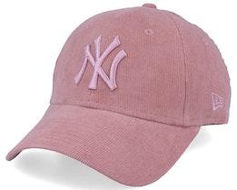 New York Yankees Women 9Forty Corduroy Pastel Pink Adjustable - New Era