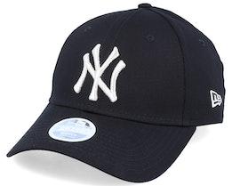 New York Yankees Women Metallic 9Forty Black/Silver Adjustable - New Era