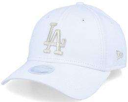 Los Angeles Dodgers Women Metallic 9Forty White/Silver Adjustable - New Era