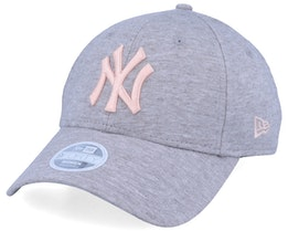 New York Yankees Women Jersey Essential 9Forty Heather Grey/Pink Adjustable - New Era