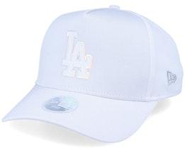 Los Angeles Dodgers Women Iridescent A-Frame White Adjustable - New Era