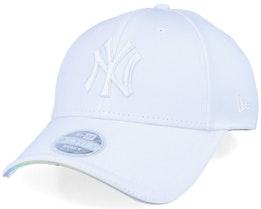 New York Yankees Women Iridescent 9Forty White Adjustable - New Era