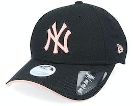 New York Yankees Womens  Era 9Forty Black/Pink Adjustable - New Era