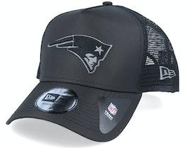 New England Patriots Tonal A-Frame Black Trucker - New Era