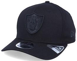Oakland Raiders Tonal 9Fifty Stretch Snap Black/Black Adjustable - New Era