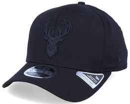 Milwaukee Bucks Tonal 9Fifty Stretch Snap Black/Black Adjustable - New Era