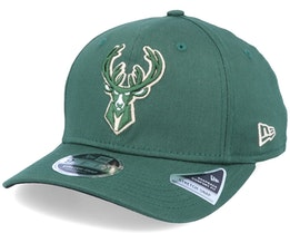 Milwaukee Bucks 9Fifty Team Stretch Snap Green Adjustable - New Era