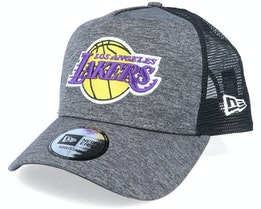 LA Lakers Shadow Tech A-Frame Heather Dark Grey/Black Trucker - New Era