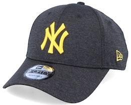 New York Yankees Shadow Tech 9Forty Heather Black/Yellow Adjustable - New Era